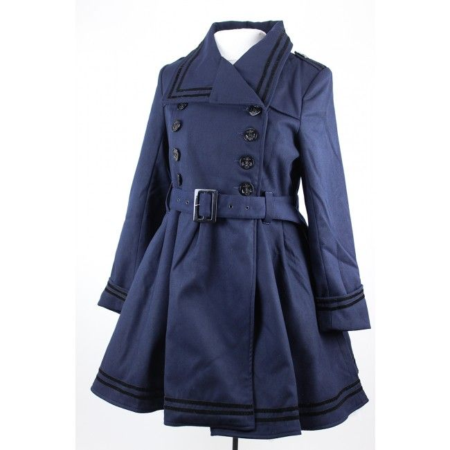 Navy Millie Coat Hell-Bunny-Jacket-Plus_sizes