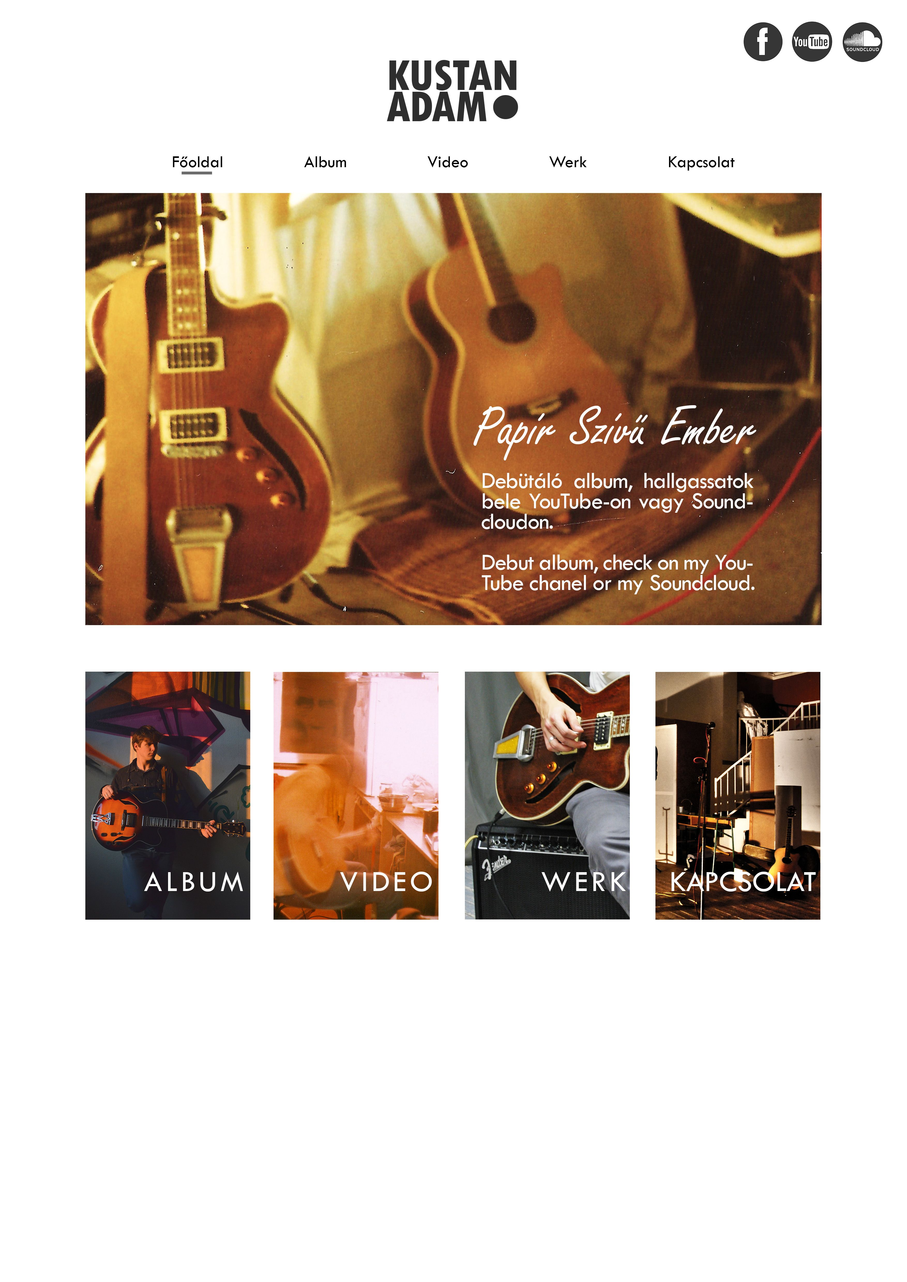 Music webpage, webdesign plan