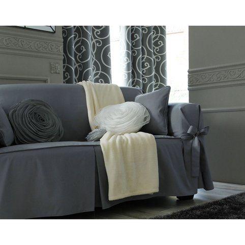 Housse De Canape A Nouettes Becquet Gris Vue 1 Furniture Home Home Salon