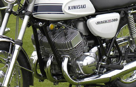 Kawasaki 500 Mach III 3-Cylinder 2-Stroke Engine | Clic ...