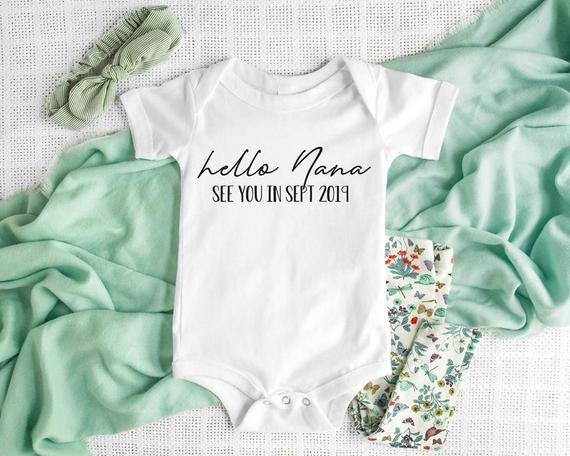My Name is Claire Personalized Name Baby Romper Hello