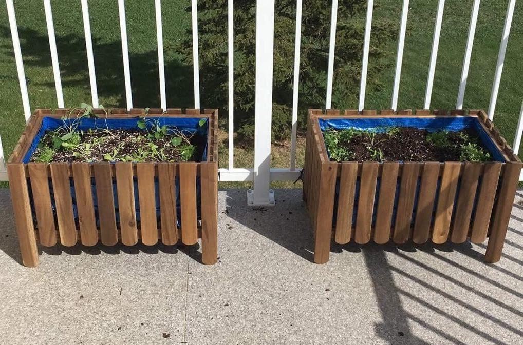 Diy Raised Bed Liner For Askholmen Planter Dengan Gambar