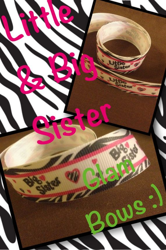 Little Sister or Big Sister Ribbon FREE SHIPPING by GLAMBOWS4U, $5.00