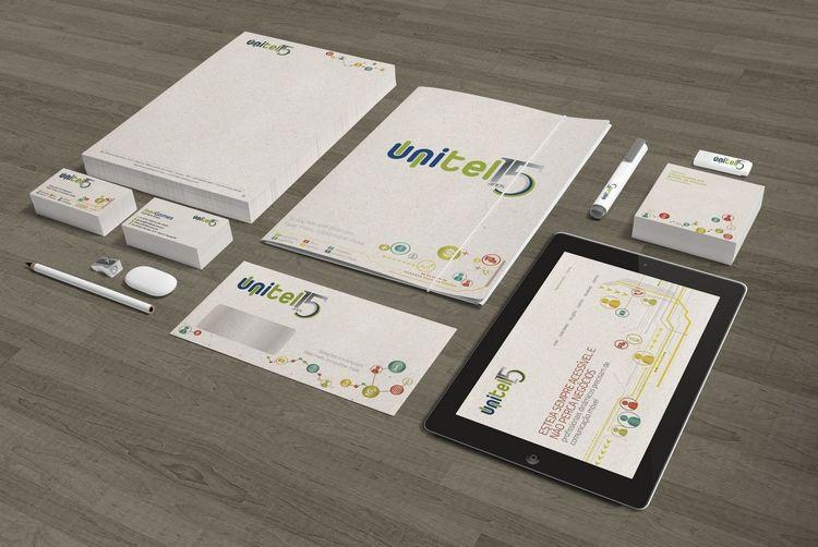 Cliente: Unitel Telecom   Papelaria e website   #identidadevisual #design #branding #identity #visualidentity #corporatedesign
