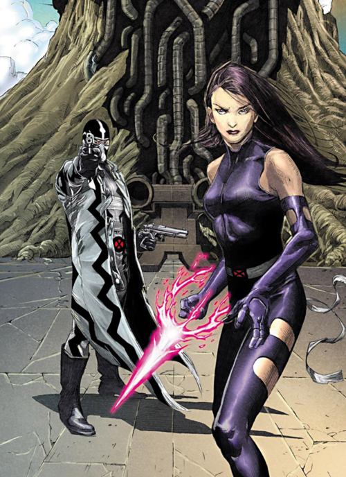 Fantomex and Psylocke by Jerome Opeña