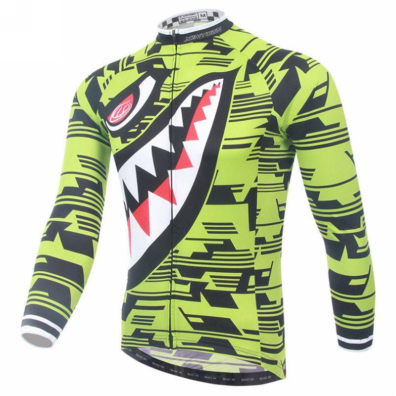 eea358d46 Shark Men Cycling Jersey Winter Long Sleeve Cycling Clothing Ropa invierno  Ciclismo Mountain Bike Jersey Jacket