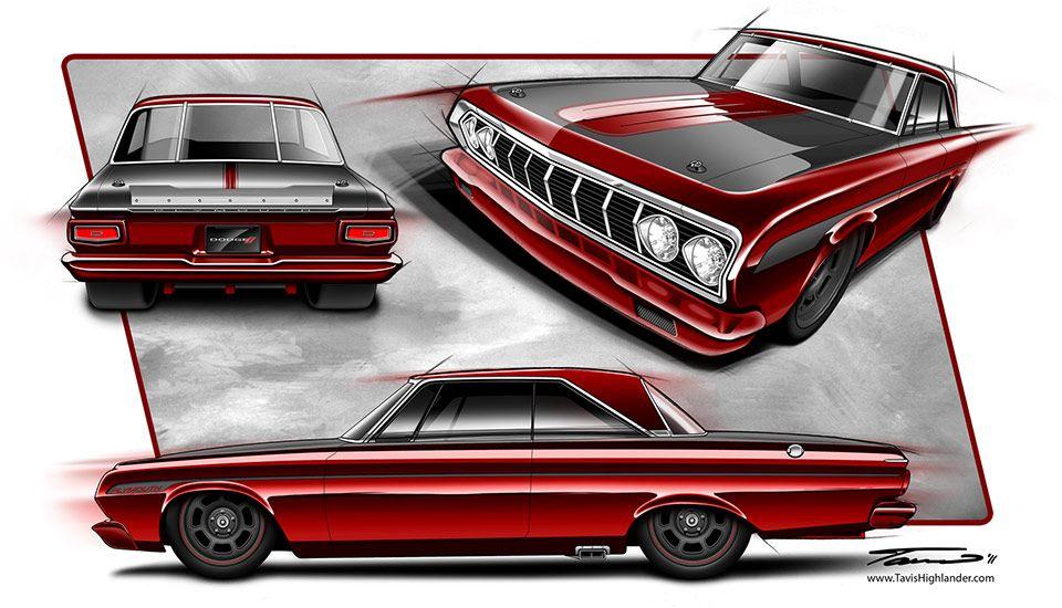 Automotive Illustration Professional Custom Car Concept Sketches
