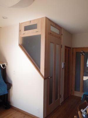 無垢スタイルのリビング階段省エネ対策 暖房効率向上 リフォーム事業