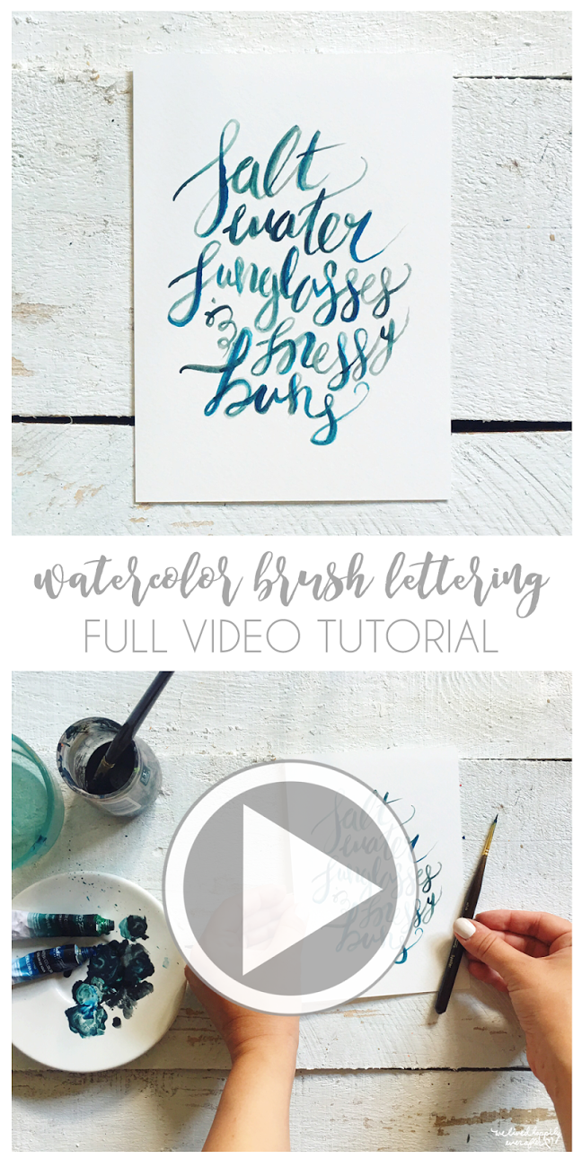 Hand Lettered By Hannah Watercolor Brush Lettering Tutorial