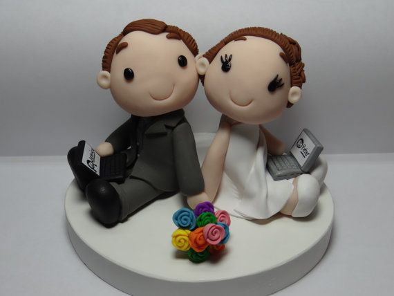online dating cake topper