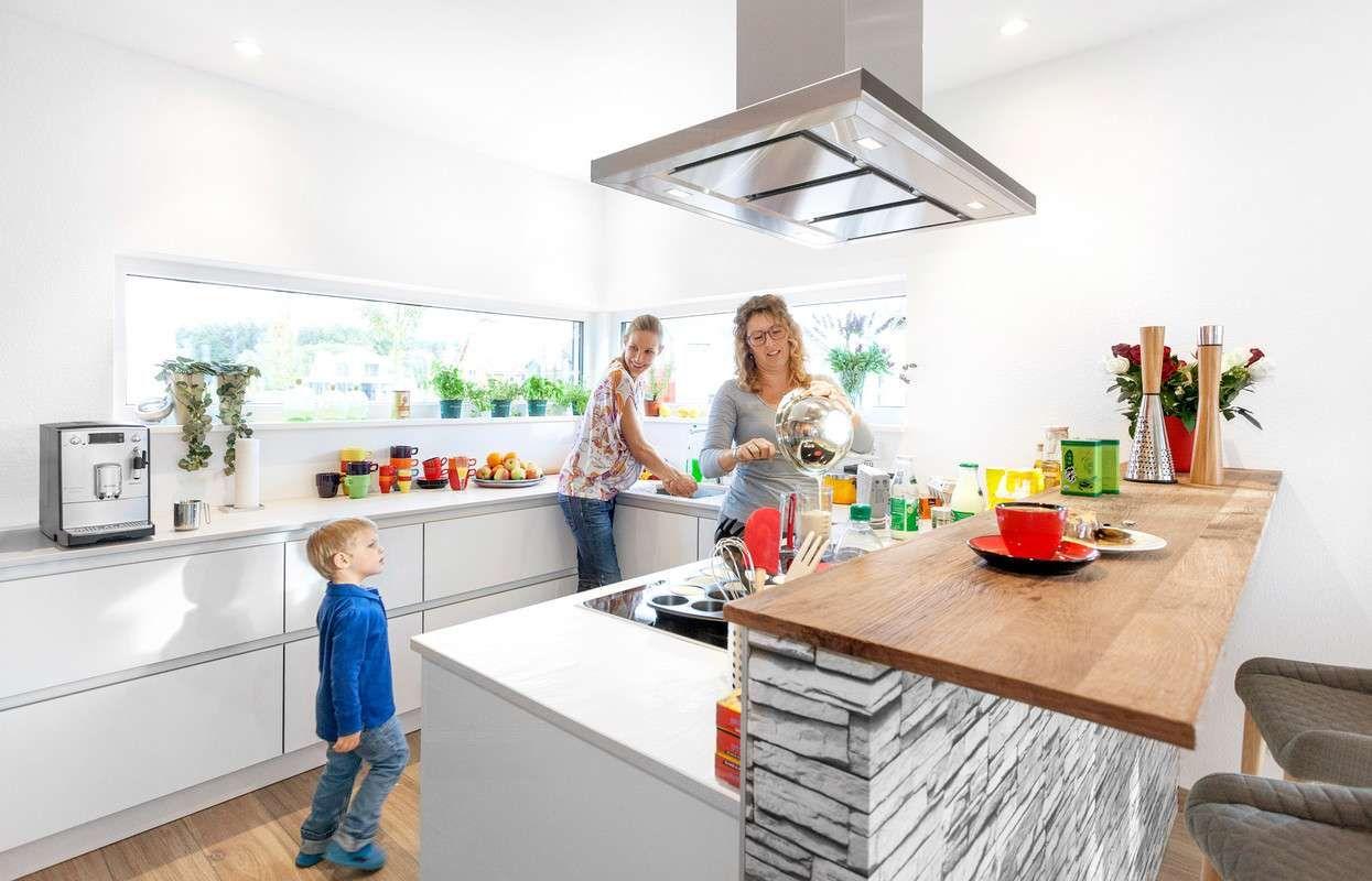 Küchenideen fliesenboden schwörerhaus  kfw effizienzhaus  plus  fertighauswelt günzburg