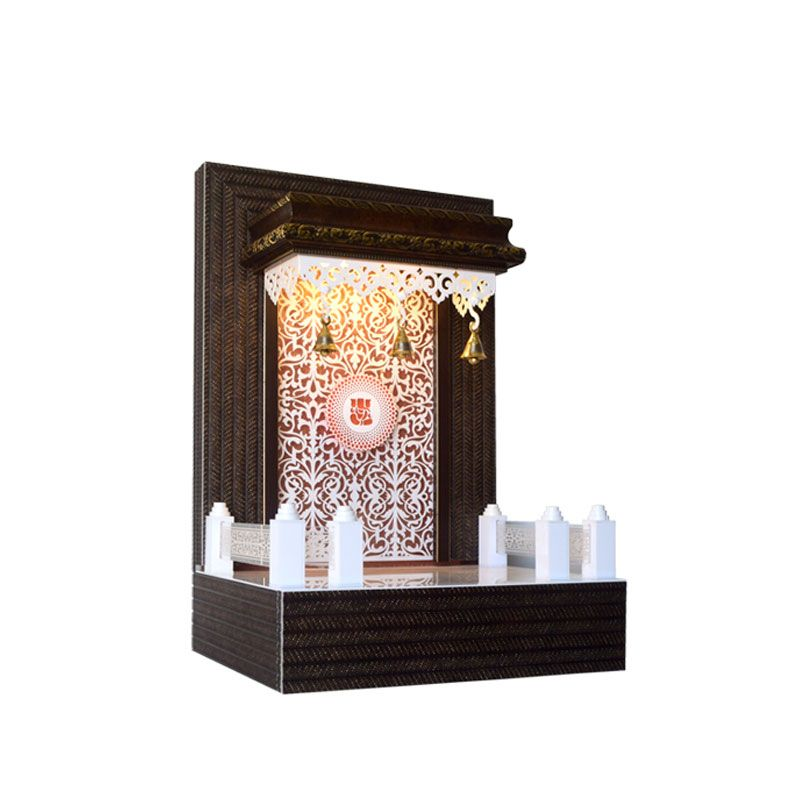 Wall Mounted Wooden Temple Design For Home Home Review Co