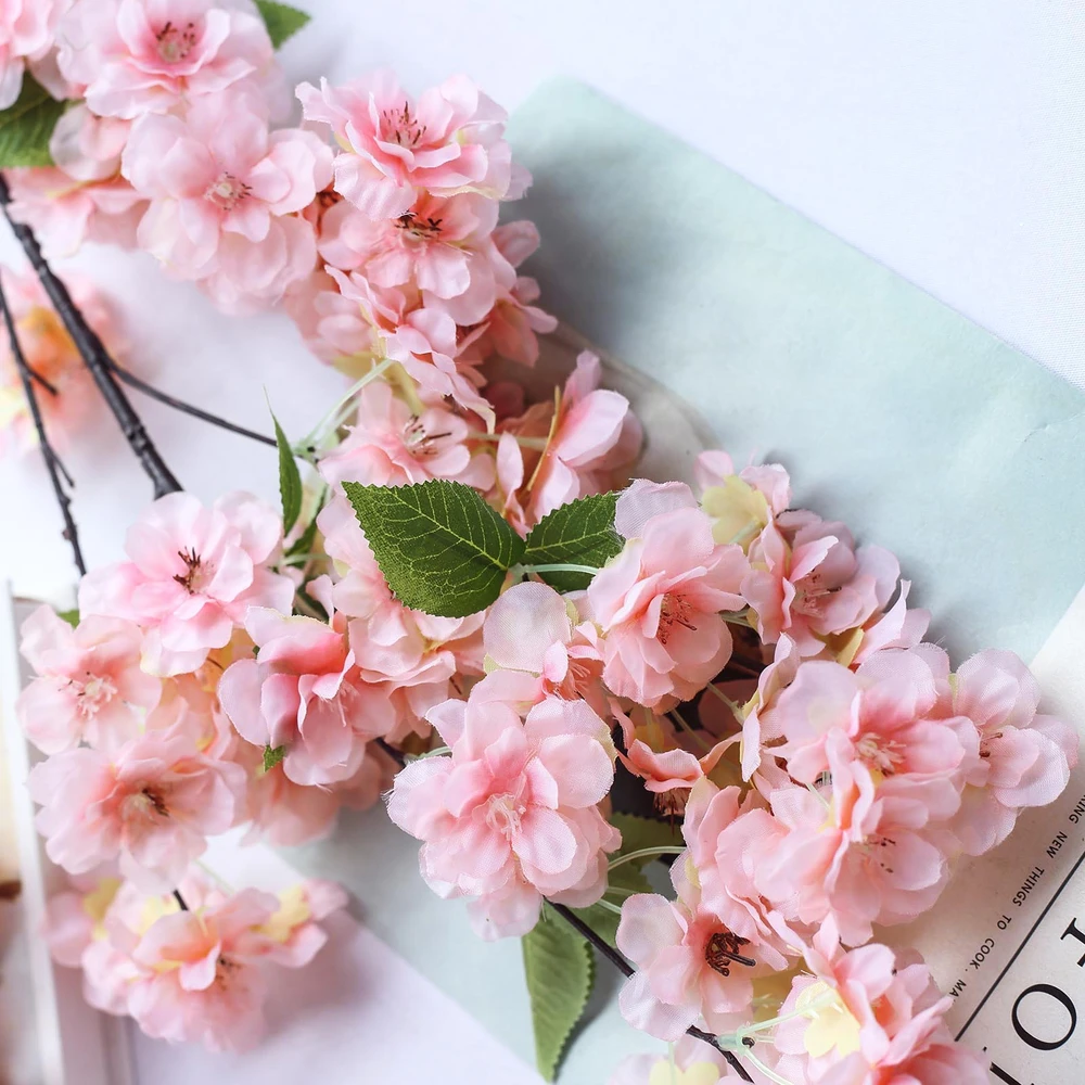 4 Bushes 40 Tall Pink Silk Artificial Flowers Faux Cherry Blossoms Branches Artificial Silk Flowers Artificial Flowers Cherry Blossom Branch