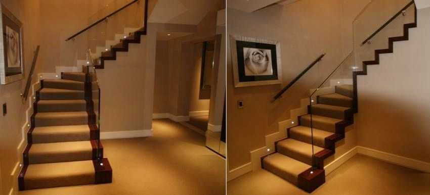 Install Led Lights Staircase Basement Lighting Stairways Stairs