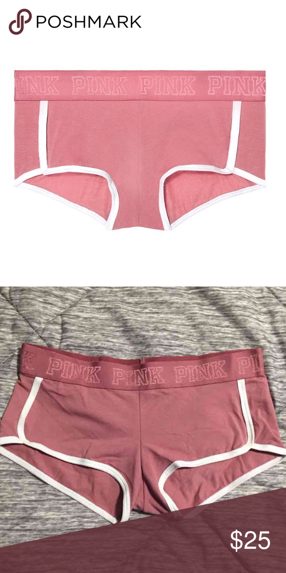 5205b84789ceb VS Pink logo boy shorts panties New with tags. Victoria's Secret ...