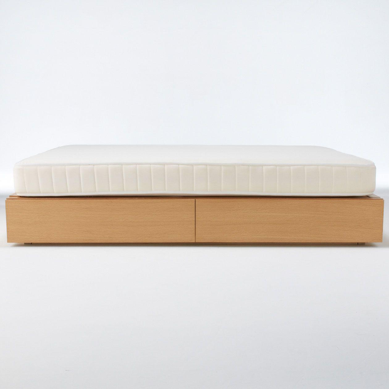 Fuji 350 Oak Storage Bed Double Muji Bed Storage Bed