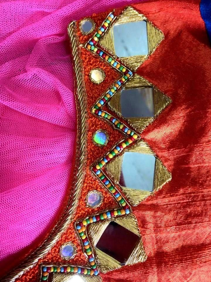 Glass Work Blouses Online 76