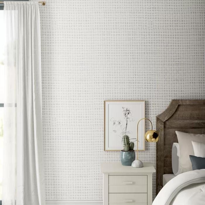 "Clément 24' x 36"" Paper Weave Wallpaper Master bedroom"