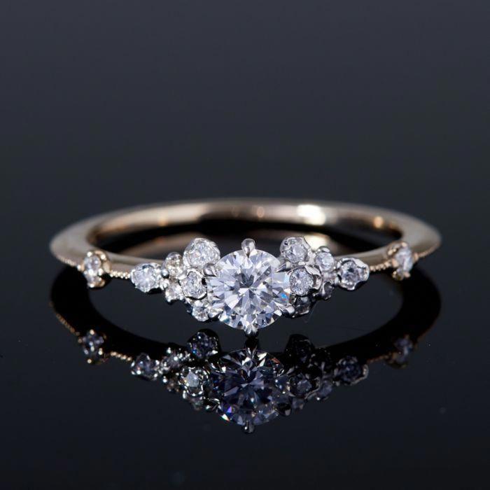 1ctw Natural Tanzanite engagament ring set,5x7mm emerald cut,14K rose gold diamond wedding band,2pcs bridal ring sets,thin bridal band style
