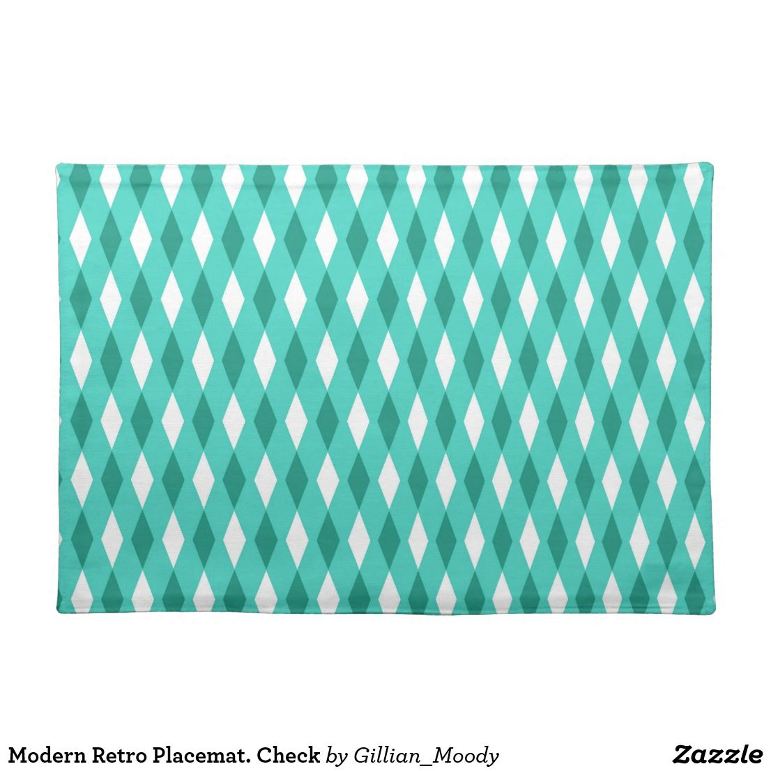 Modern Retro Placemat Check Placemat Modern Placemats Modern Retro Placemats
