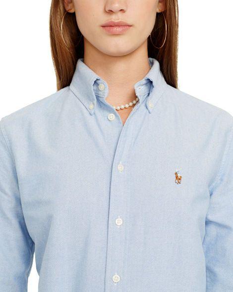 facf6a5b Custom-Fit Oxford Shirt | Ralph Lauren | Shirts, Workout shirts ...