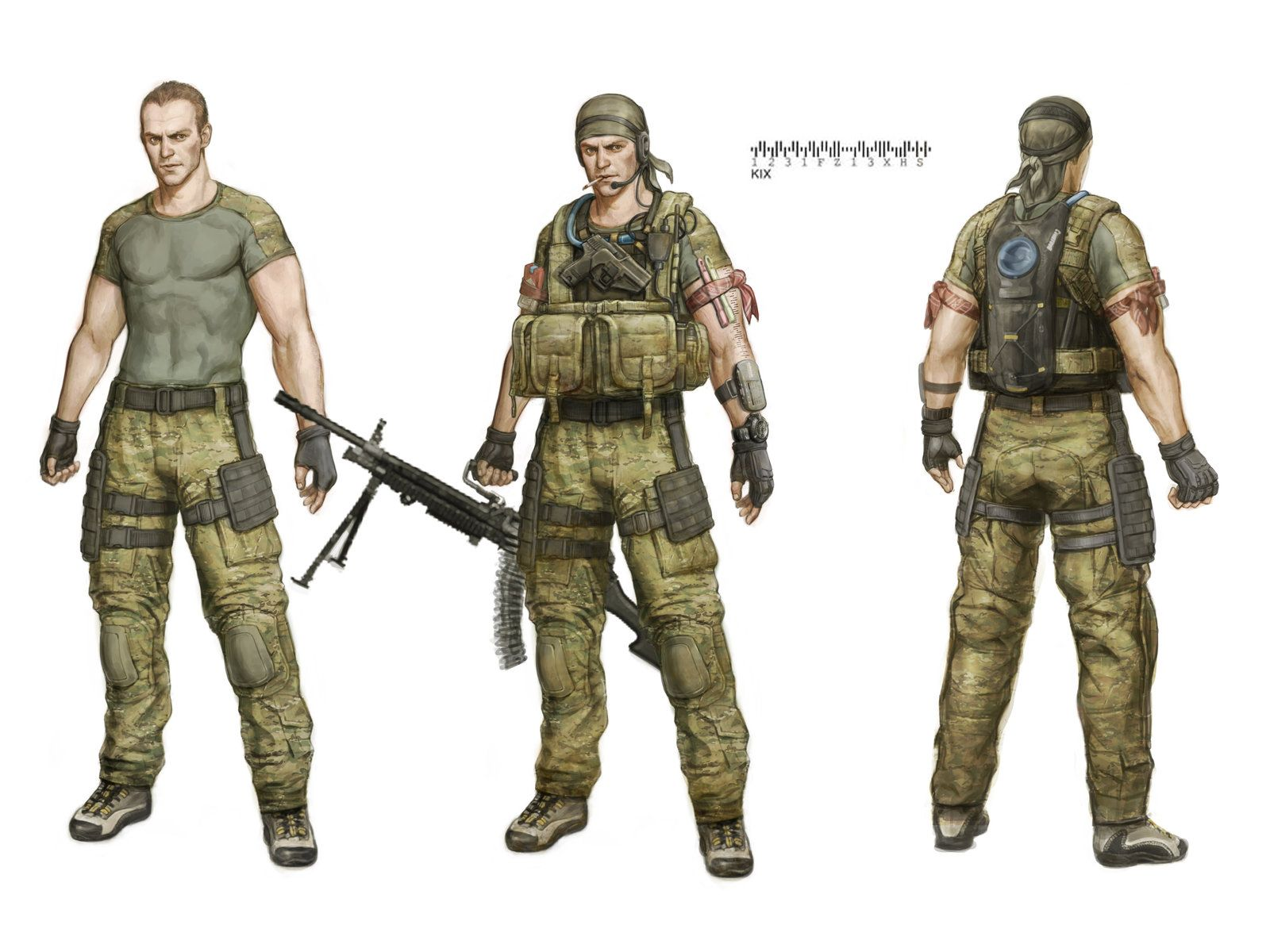 special force character concept (US NAVY SEAL), Sungwook