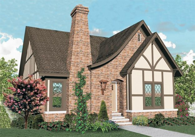 Charming 3 Bedroom Tudor Style Home With Well Designed Floor Plan. Tudor  House Plan # 651127.