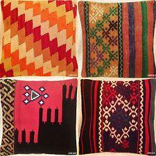 NEW! 100% Wool Luxury Turkish Moroccan Colourful Kilim Cushion Covers 16''/40cm