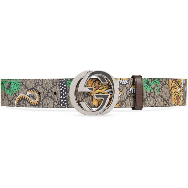 5448f3b16 Gucci Gucci Bengal Gg Supreme Belt ($275) ❤ liked on Polyvore featuring  men's fashion, men's accessories, men's belts, accessories, belts, men,  mens belts ...