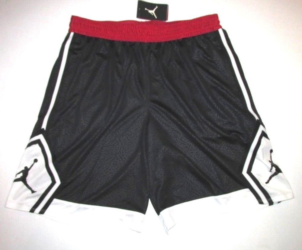 ca7f78b87e9b Jordan Rise Diamond Mens Basketball Shorts 2XL Black Red White  Jordan   Shorts  Sports