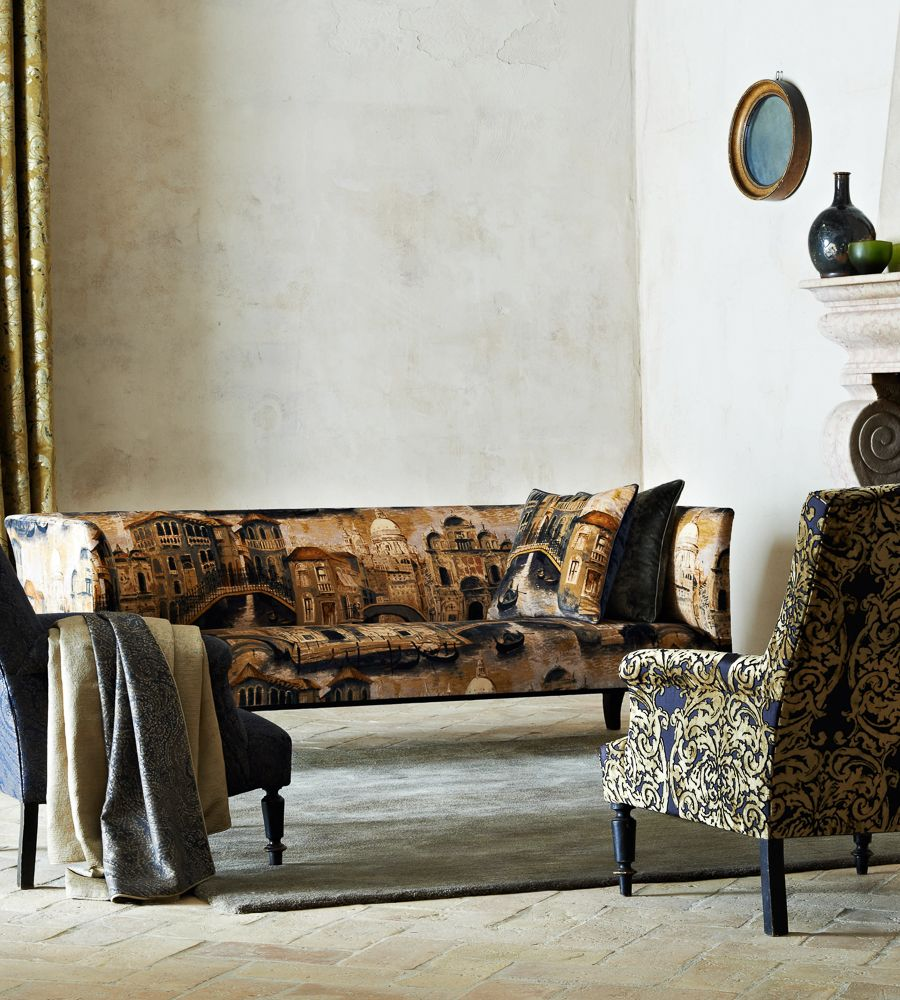 Interior Design Classic, Vintage | The Gondolier Fabric by Zoffany ...