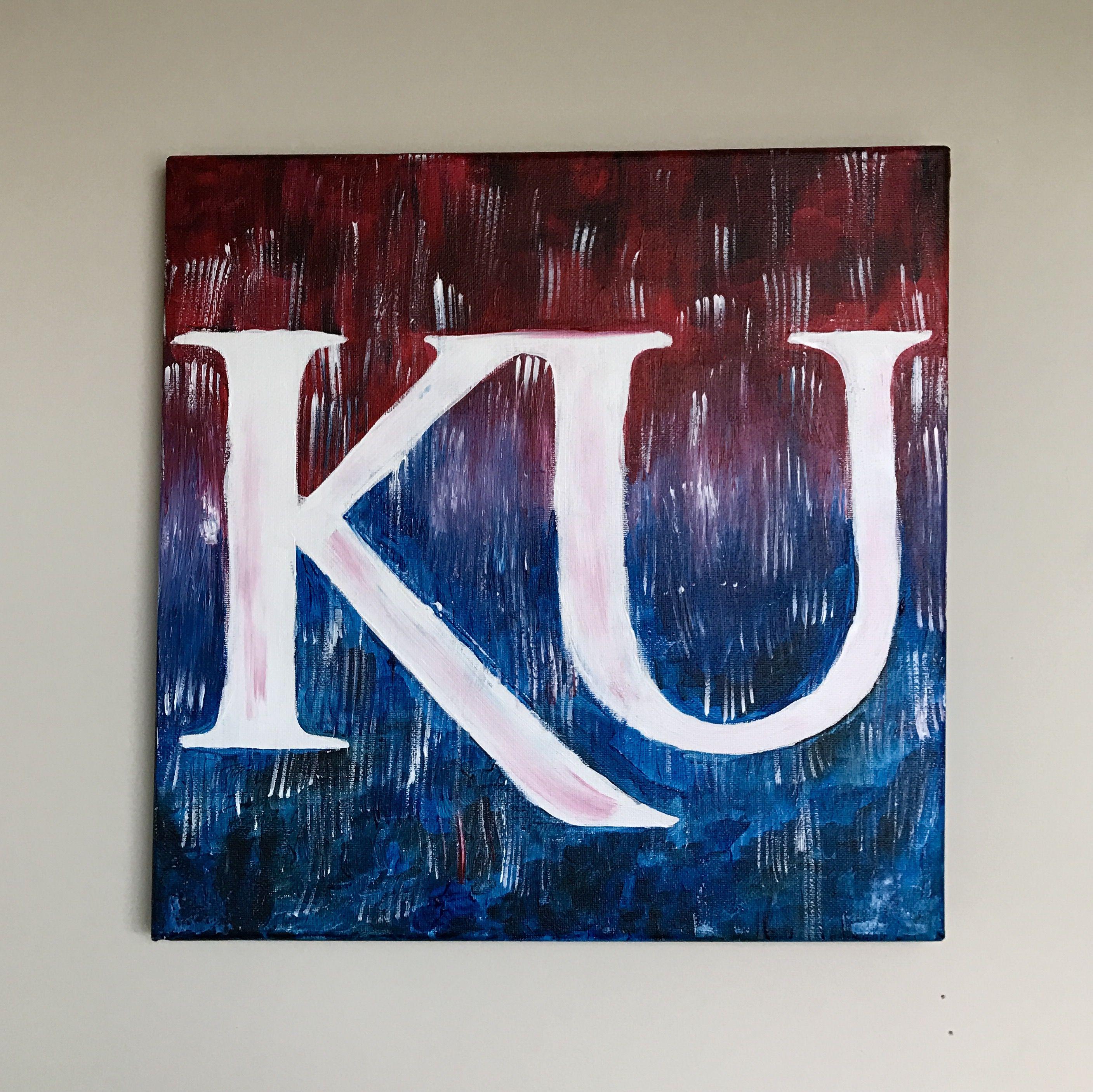 KU university of kansas canvas diy College canvas