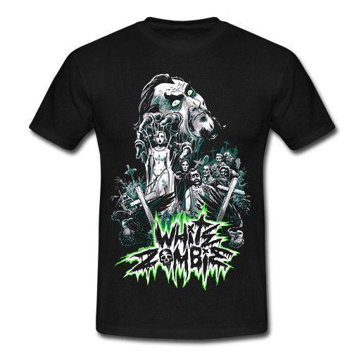 WHITE ZOMBIE Classic Logo Sweatshirt Hoody T-Shirt Rob Zombie S-2XL