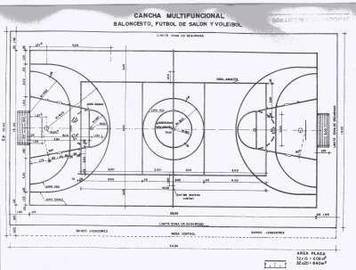 Cancha Baloncesto Futbol Voleibol Canchas Medidas Cancha De Futbol Cancha De Futbol Sala