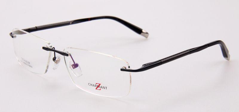 fefe822efe Find More Accessories Information about ZT11777 New arrival brand designer  Optical frame men eyeglasses charmatnt Z Titanium rimless reading glasses
