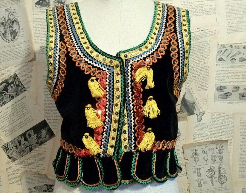 Velvet Gypsy Folk Vest. $55.00, via Etsy.