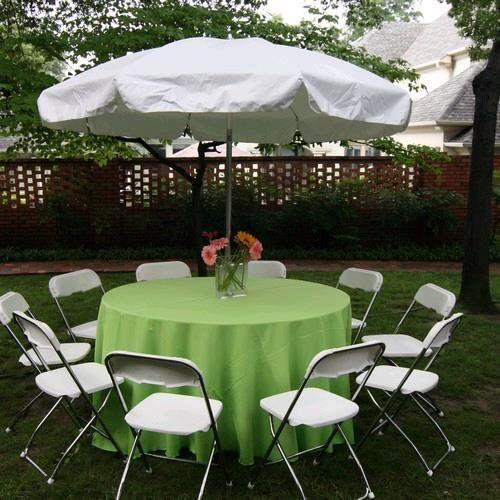 Umbrella 60 Round Table In Dallas, Round Tables For Parties