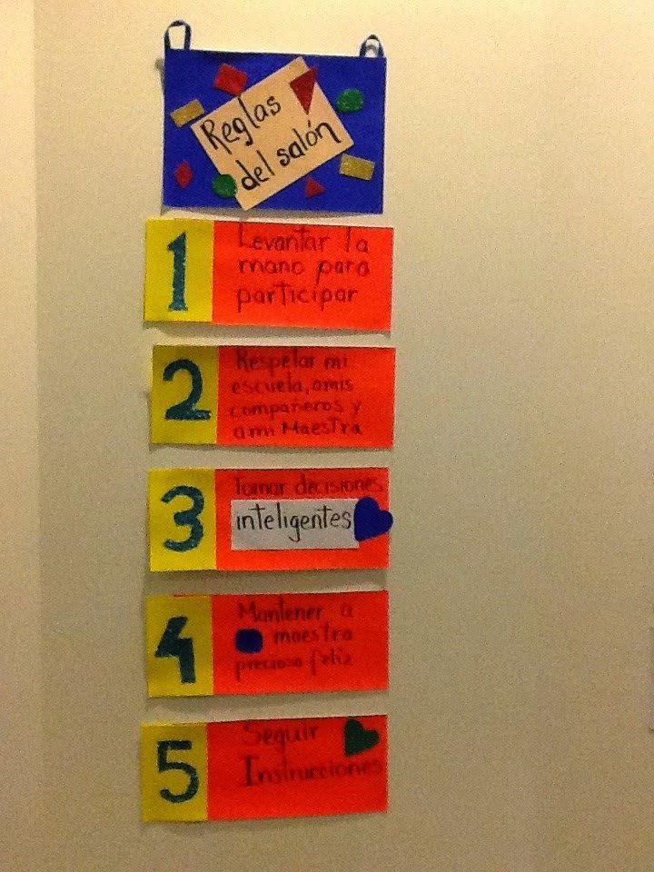 Tips de actividades para tu grupo escolar cartel con las for 5 reglas del salon de clases