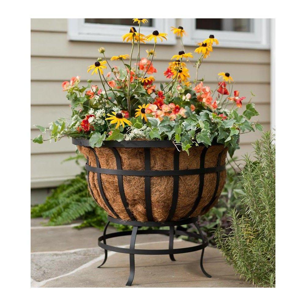 Wall Basket Planter Outdoor Garden Patio Metal Basket Coco Liner Plant