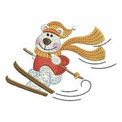 Christmas Polar Bear 2, 8 - 4x4   Winter   Machine Embroidery Designs   SWAKembroidery.com Ace Points Embroidery