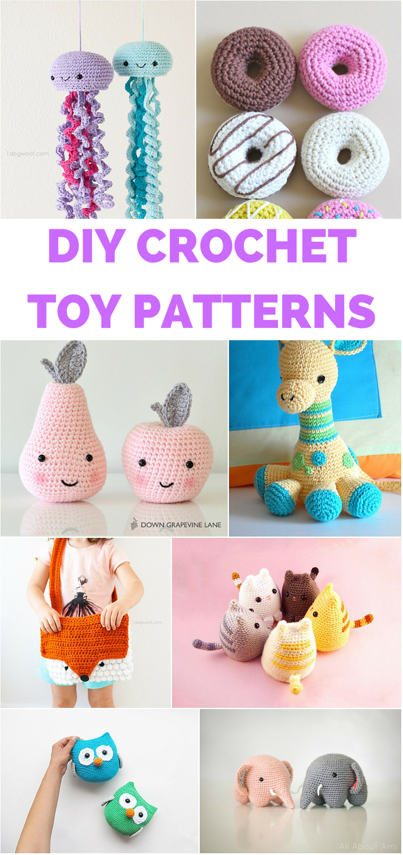 12 DARLING CROCHET TOYS TO MAKE FOR KIDS WITH FREE PATTERNS #handmadetoys