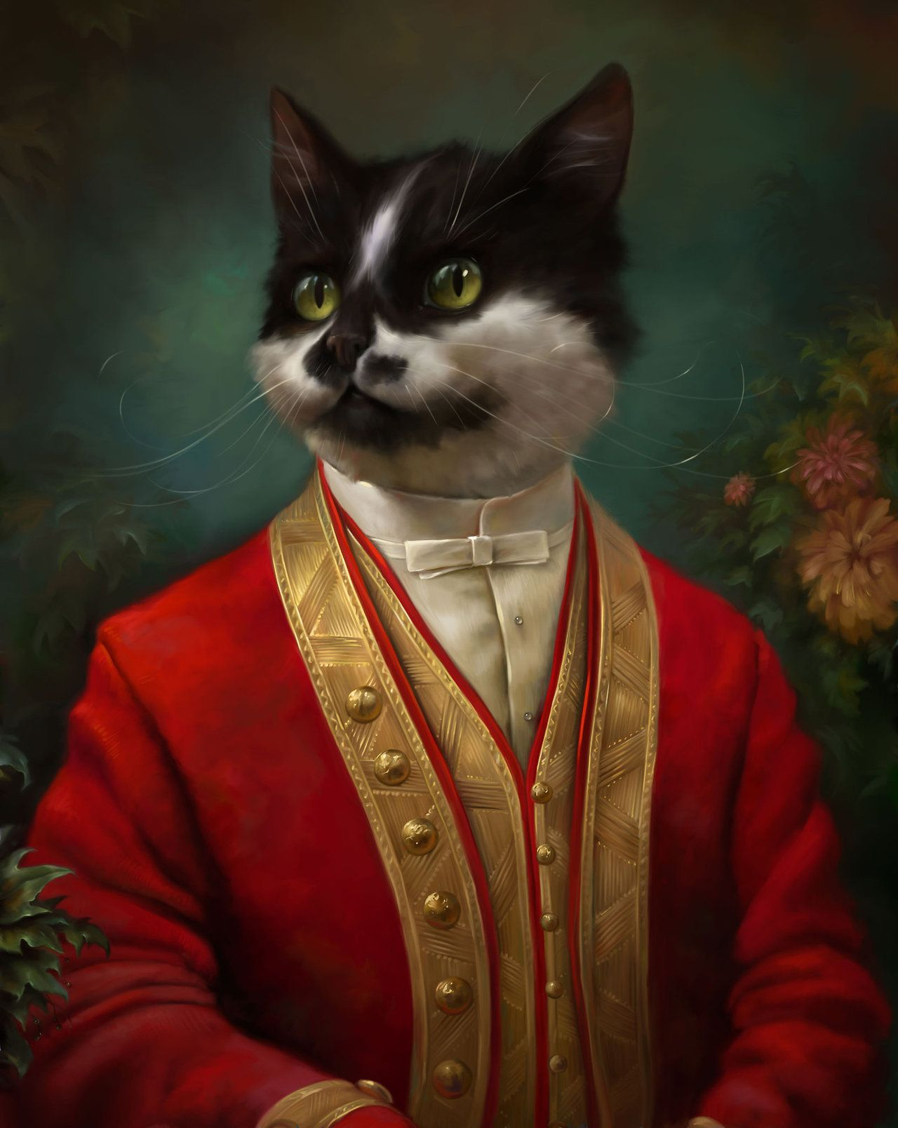 """The Hermitage Court Waiter Cat"" par Eldar Zakirov"