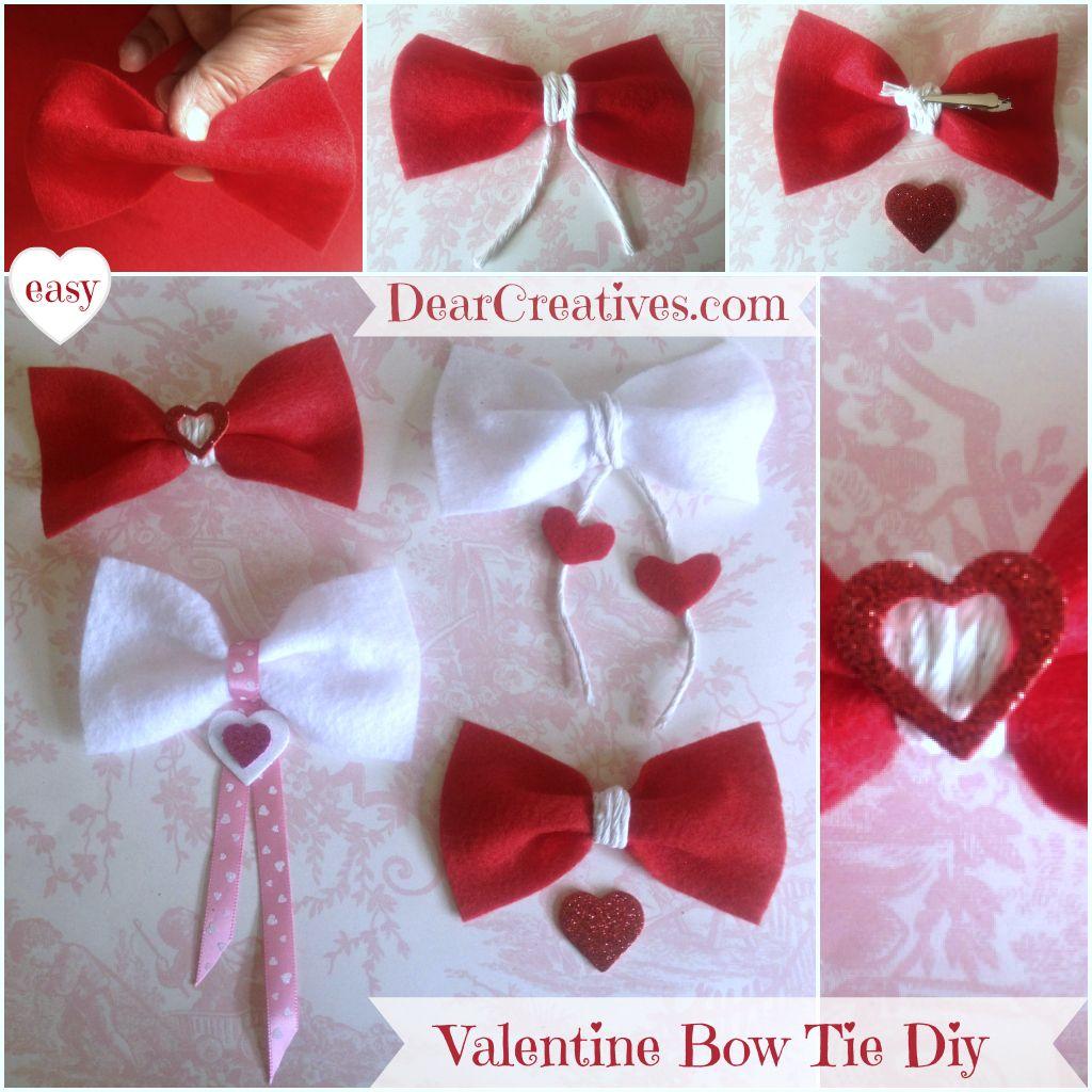 felt diy | Felt bow ties, Valentines Day Diy, Crafting, Crafts,Felt Valentine Bow ...