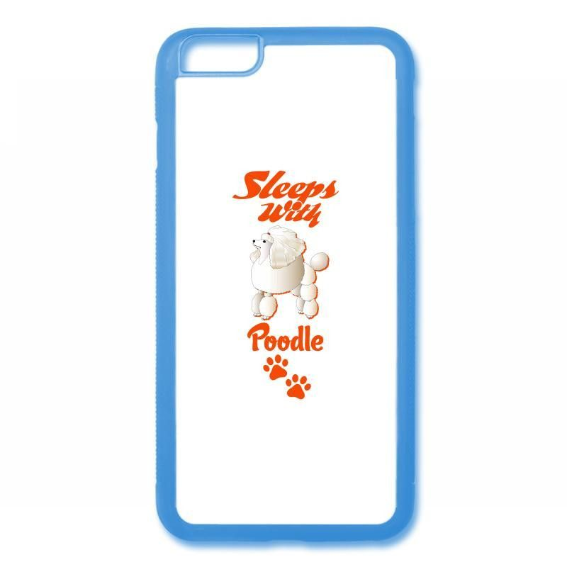 sleeps with poodle iPhone 6/6s Rubber Case