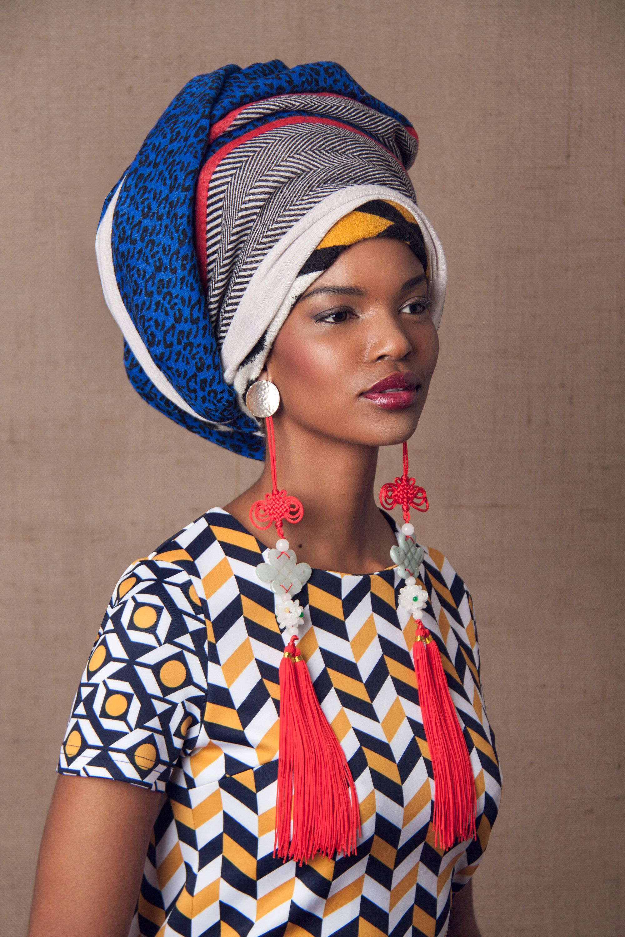 Striking photos of cultural fashions you have to see xhosa head picture of a model wearing a modern xhosa inspired head wrap south africa ccuart Image collections