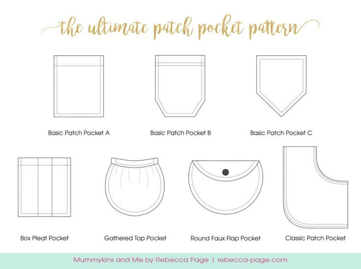 Ultimate Patch Pocket Pattern Add Pockets To Any Garment Sewing