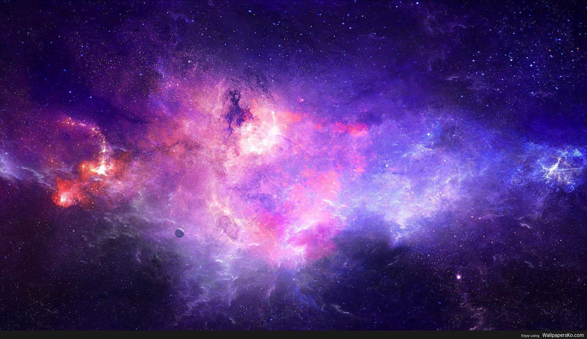 purple galaxy background - HD1920×1080