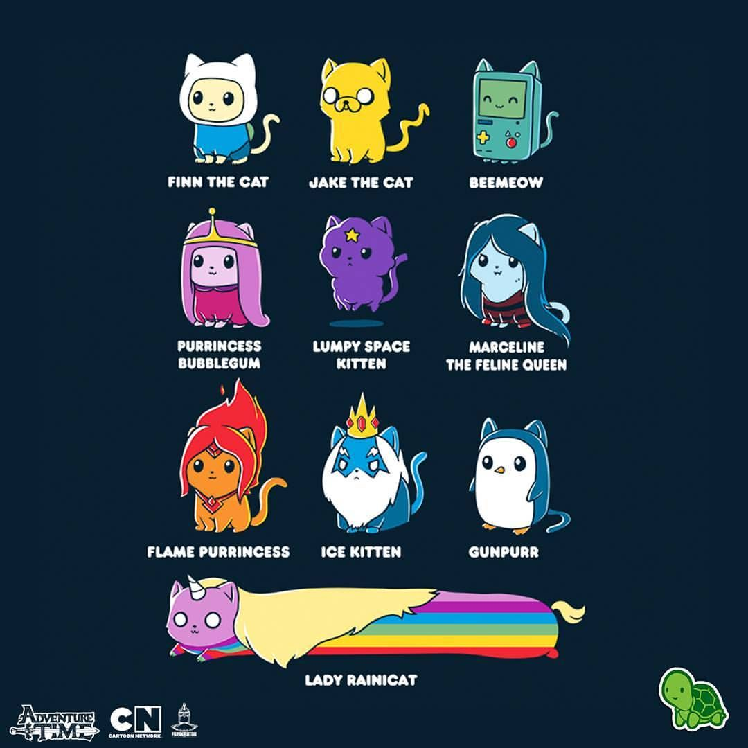 1 621 Likes 33 Comments Teeturtle Teeturtle On Instagram Everything S Better With Cats Adventure Time Princesses Cute Drawings Cute Animal Drawings