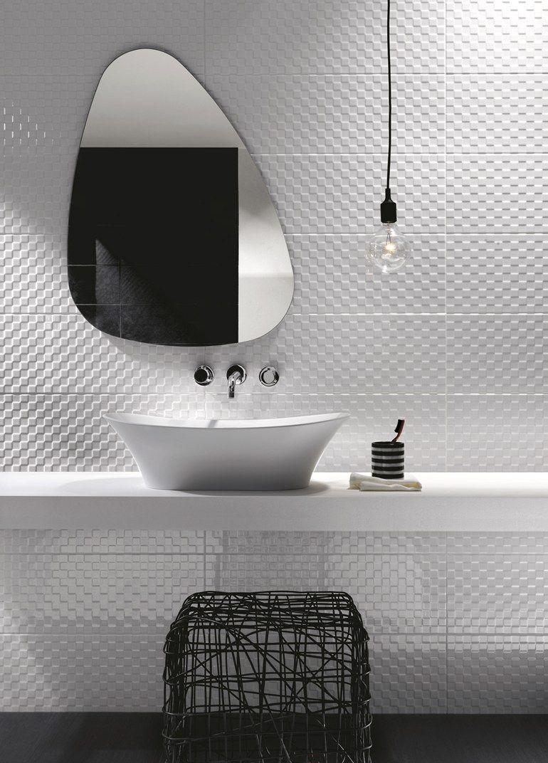Indoor white paste wall tiles prestige by ragno marazzi bathroom white interiors - Armadietti da bagno ...