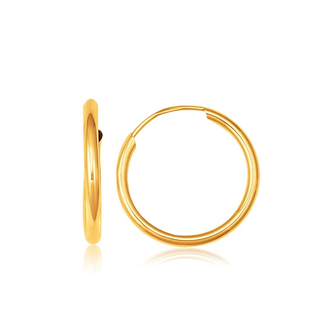 Gold Luxury Jewelry, High Quality Gold Earrings. Gold Jewelry Gifts for Women, White Gold Earrings. Best Gold Earrings for Women, High-end Gifts.  Uniquepedia.com - 14K Yellow Gold Polished Endless Hoop Earrings (5/8 inch Diameter), $49.00 (http://www.uniquepedia.com/14k-yellow-gold-polished-endless-hoop-earrings-5-8-inch-diameter/)